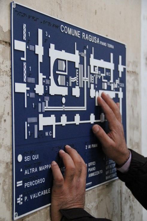 Lettura di una mappa tattile