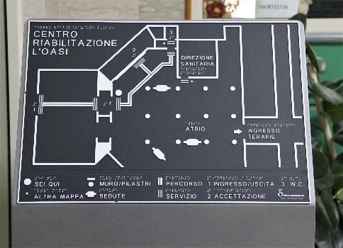 Mappa Tattile centro di riabilitazione L'Oasi