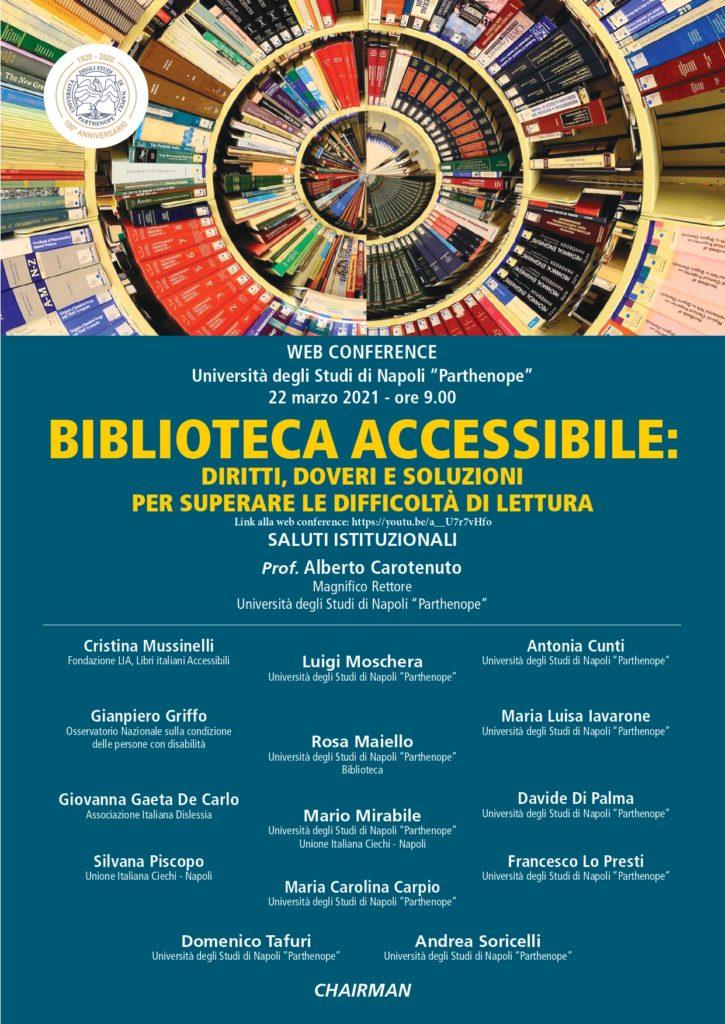 Locandina biblioteca accessibile